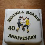 Cake made to celebrate Harthill Morris' 40th Anniversary