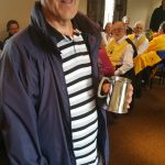 Brian receives his tankard to comemorate his time as Old Man